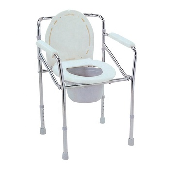 Portable Height Adjustable Folding Bedside Commode Chair for Toilet Elderly Raised Toilet