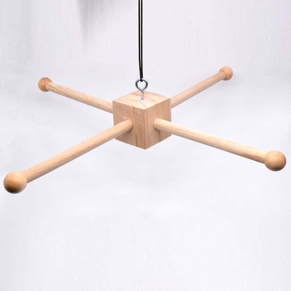 DIY Wood Baby Crib Mobiles Accessories Hanger Cross Natural Wooden Frame Mobile Hanger