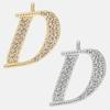 D - 18k gold or rhodium