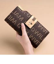Новый продукт Длинный кошелек мульти-держатель для карт простой большой емкости держатель для карт кошелек женский дешевый держатель для к...(Китай)