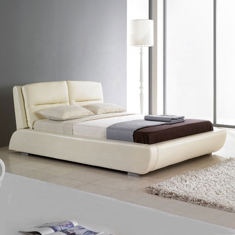 european style home leather bed modern soft bedroom