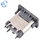 Usb Type A Connector Usb 3.1 Type-c 24 Pins Female Height 9.3 Vertical Usb C Type Connector