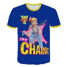Одежда для маленьких мальчиков 2020, 3D мультяшная игрушка история 4, Детская футболка, летние модные Забавные топы с короткими рукавами для ма...(Китай)