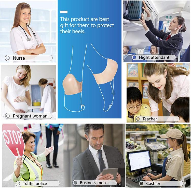 Силиконовые гелевые носки для пятки, силиконовые гелевые перчатки для пятки, для облегчения боли в ногах, Защитные носки для ухода за кожей