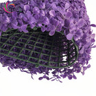 Indoor & Outdoor Fresh PE material purple color artificial plant wall for garden greening project 40*60cm