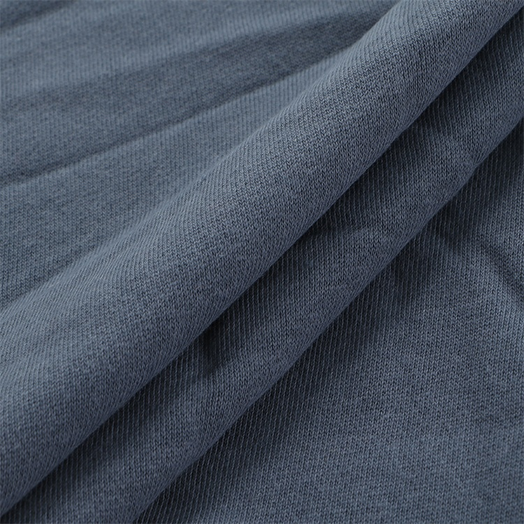 QS5999 Direct Factory Price Polyester/Cotton Fabric CVC French Terry Fleece Fabric for Clothing Sweatshirt Hoodie Fabric