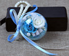 Two flowers Tiffany blue