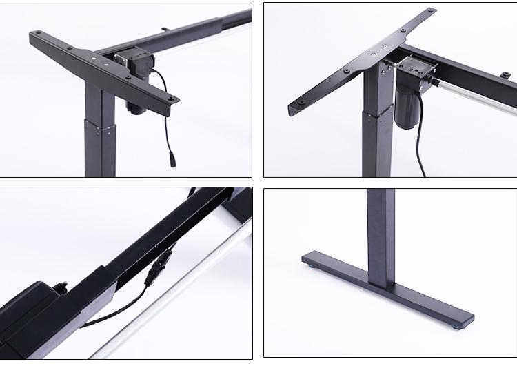 Anti-collision Single Motor Electric Standing Adjustable standup Desk electric height adjustable table leg