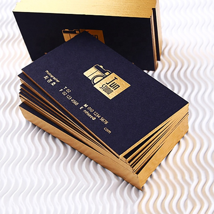 Китайская фабрика, изготовленная на заказ, Высококачественная бумажная визитная карточка с принтом, Высококачественная визитная карточка с золотым тиснением