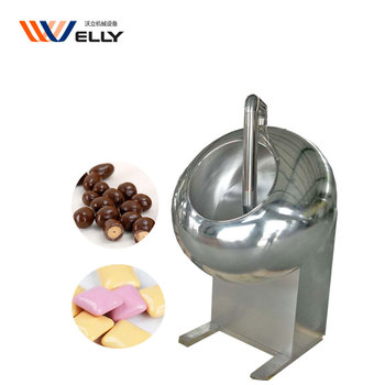 Market oriented automatic peanut powder food coating birthday cakes chocolate enrobing machine for commercial used