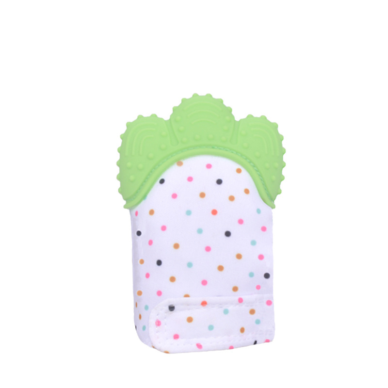 Food Grade Sensory Toys BPA Free Soft Silicone Baby Teether Toy Baby Teething Mitten For Kids Teether Gloves with cheap price