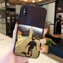 MaiYaCa отличный Чехол для телефона с изображением космонавта Луны для телефона для iPhone 11 Pro XS MAX XS XR 8 7 6 Plus 5 5S SE(Китай)