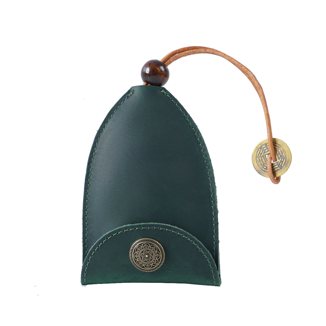 Лидер продаж, автомобильный брелок из воловьей кожи, простой Индивидуальный Мини-чехол для ключей ручной работы из натуральной кожи, защитный чехол для ключей