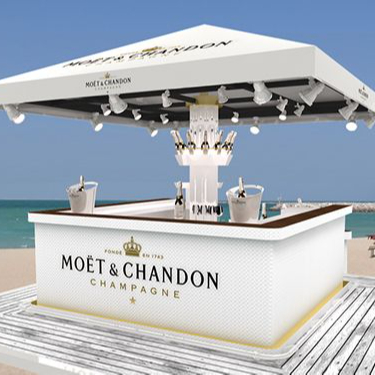 Customized restaurant bar counter Fantastic LED acrylic solid surface Portable Bar, Bar Counter