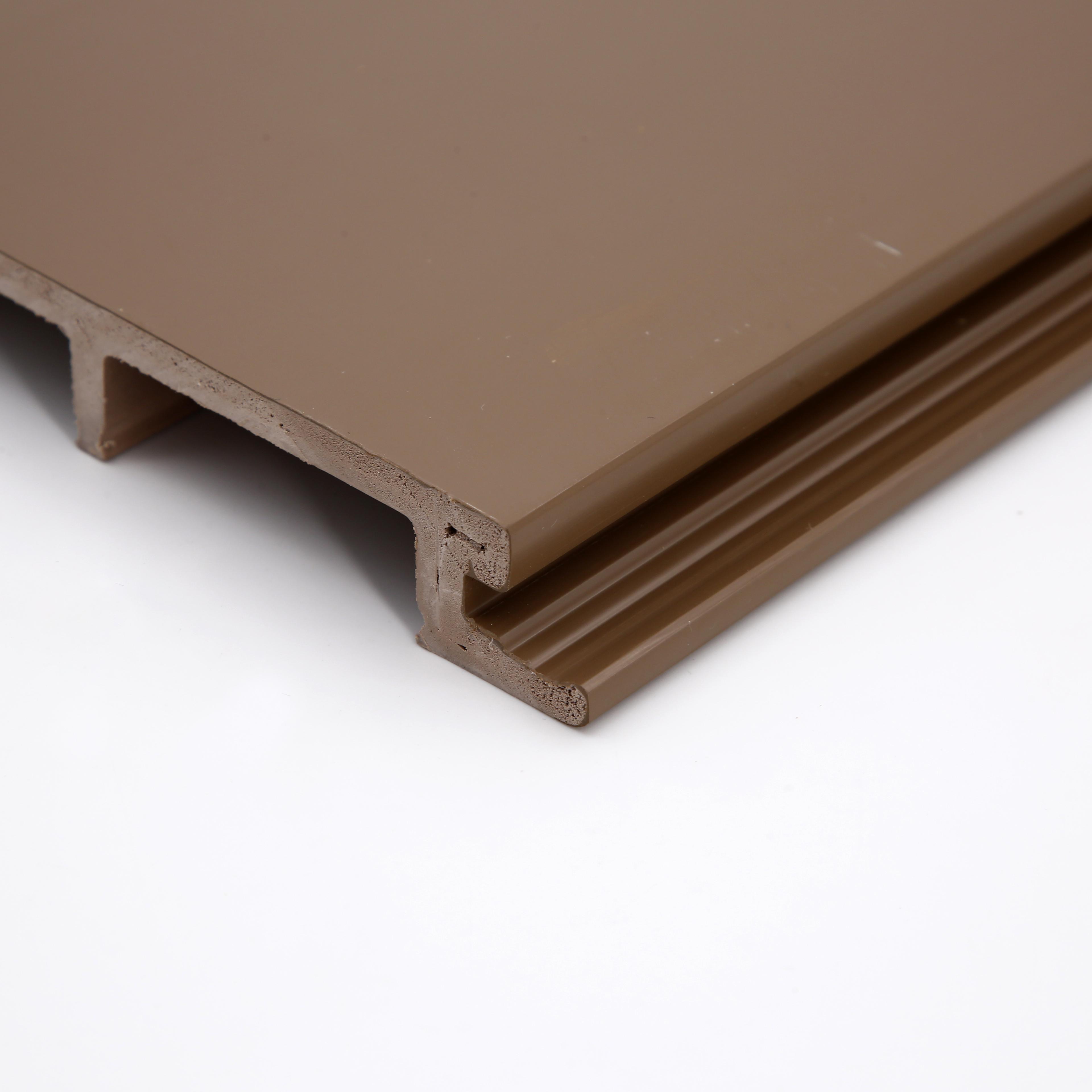 ПВХ Заводская деревянная зернистая настенная панель для украшения интерьера