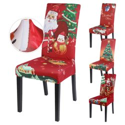 Cheaper Red  Christmas Chair Cover For Christmas Home Decoration