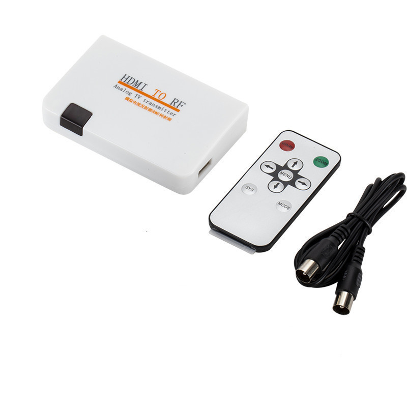 Hdmi to Rf Coaxial Converter Adapter HDMI to Coaxial Analog Signal with Remote Control Support 480I//480P//576I//576P//720P//720I//1080I//1080P us