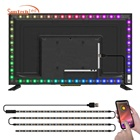 Hot selling 2meter 5050 smd smart waterproof USB 5V RGB Backlight TV LED Strip flex led strip lights