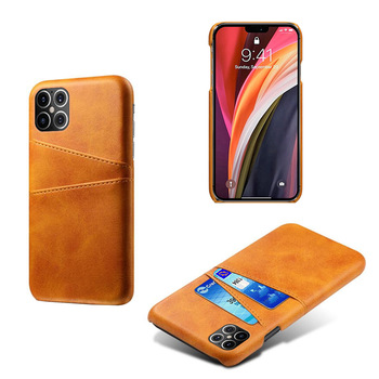 For iPhone 12 Case , Calf Skin Card Slot Leather Back Cover Protective Phone Case For iPhone 12 2020