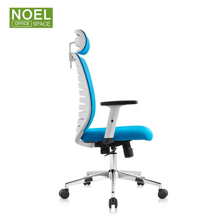 Синее Сетчатое офисное кресло, белое эргономичное кресло для менеджера, белое эргономичное кресло для высоких людей