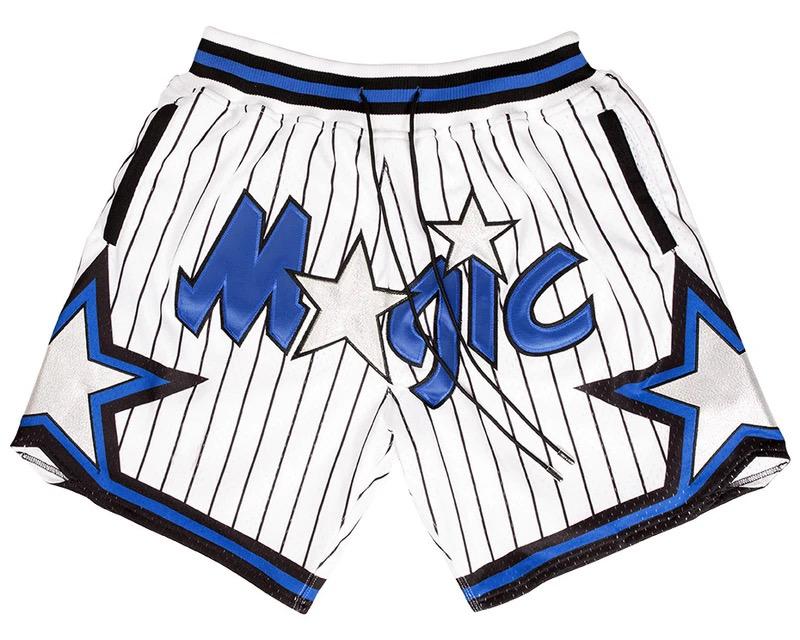 Ретро старые школьные ретро шорты с логотипом на заказ, вышитые сетчатые Волшебные мужские баскетбольные шорты на молнии