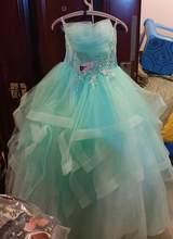 Платье без бретелек Quinceanera, вечернее платье на выпускной, 5 цветов, 2020(Китай)