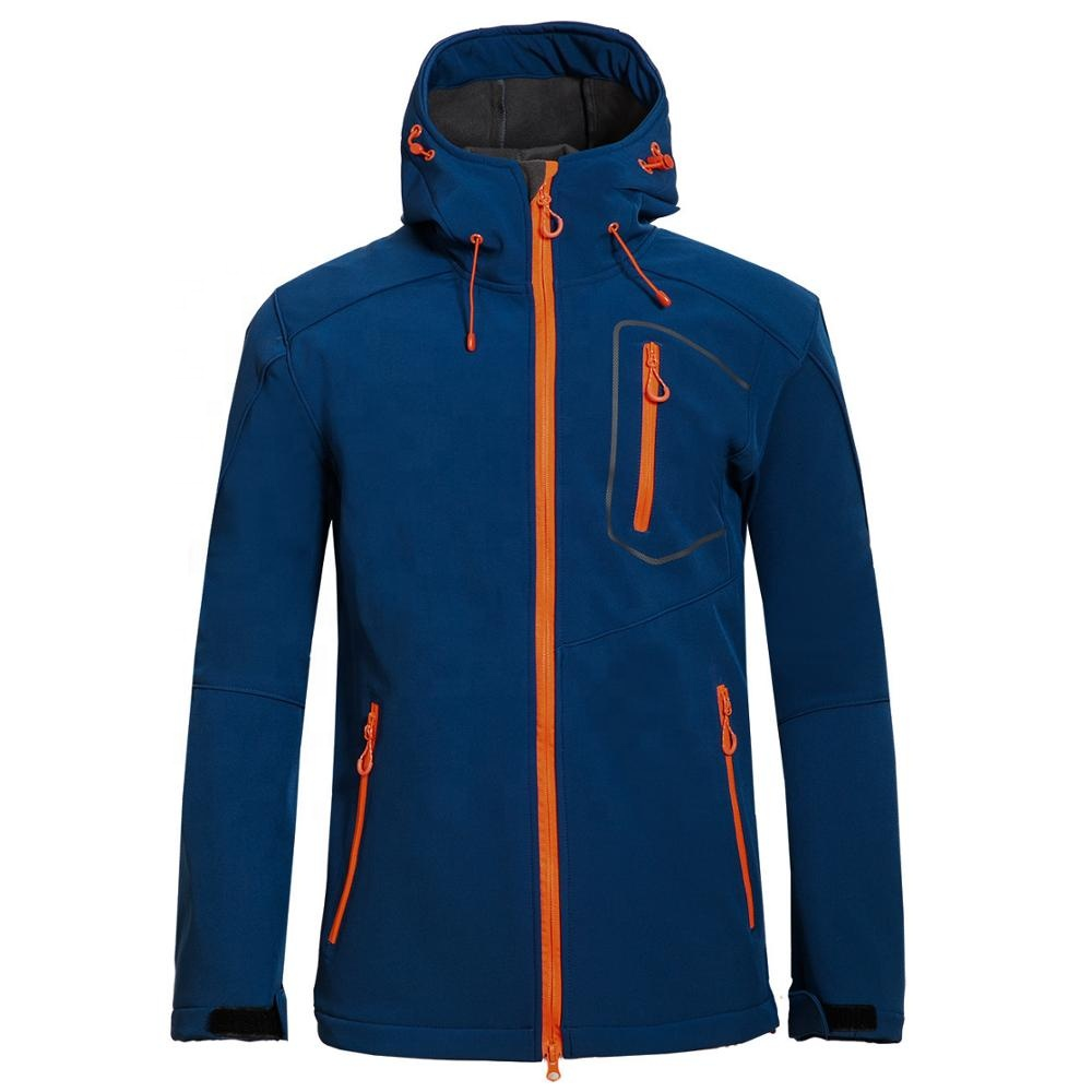 Men outdoor waterproof breathable softshell jacket