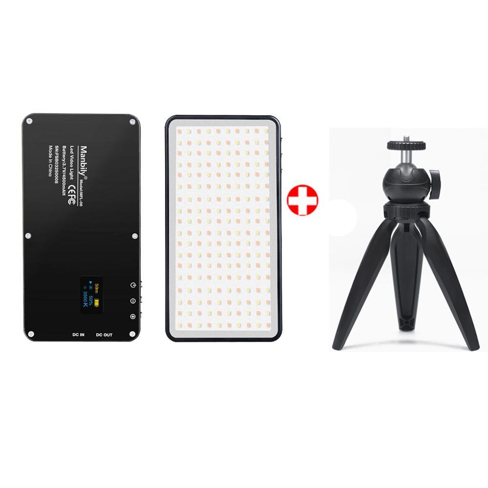 Manbily MFL-06 мини портативное освещение для фотосъемки ультратонкая 4500 мАч Светодиодная лампа для видеосъемки 180 светодиодов заполняющий свет ...(Китай)