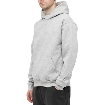 Custom OEM DIY Logo High Quality Cotton Polyester Blend Pullover No Drawstring Hoodies Men