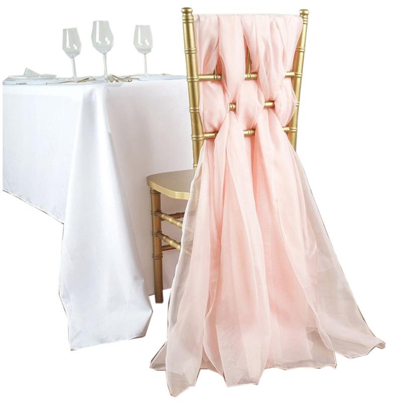 Новинка, уличное свадебное украшение, молочная пряжа, шампанское, свадебное кресло, повязка на стул, бамбуковый чехол для отеля, повязка на стул, оптовая продажа