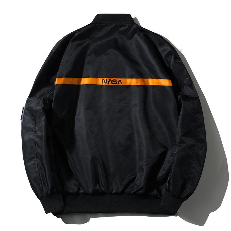 Factory Custom Wholesale Baseball Style Hip Hop Men Nasa Bomber Jacket