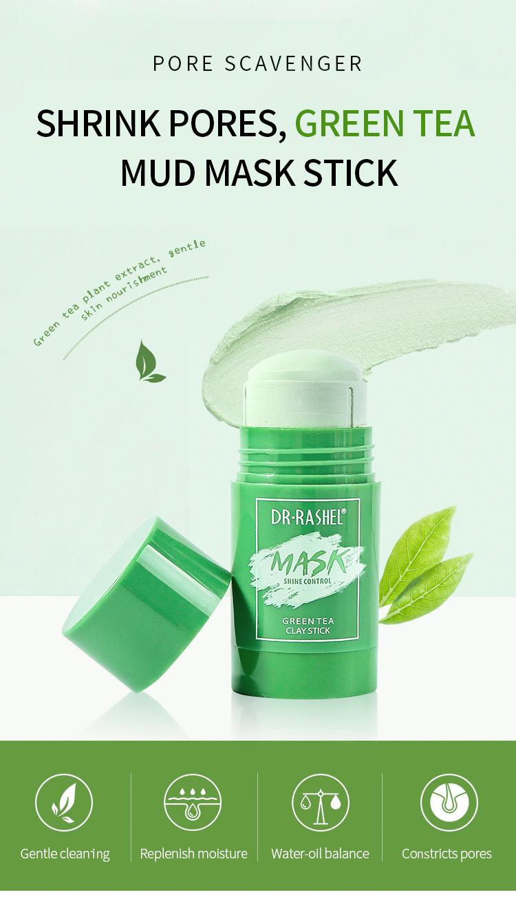 Amazon Hot Sale DR RASHEL Green Tea Stick Anti-Acne Pimple Facial Clay Mask