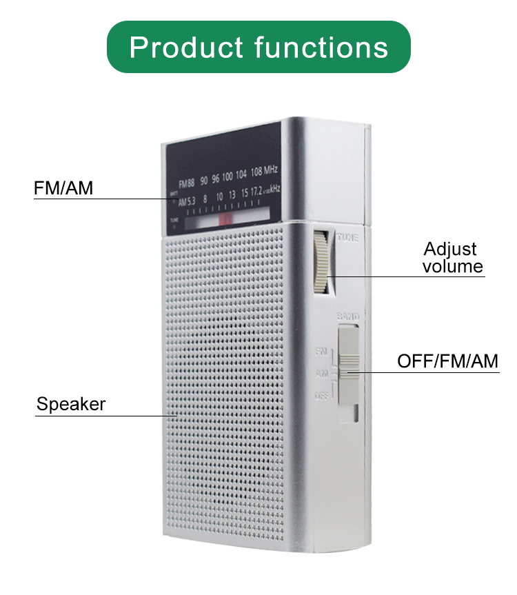 Good quality fashionable hot sale factory supply mini portable fm am radio best selling fm radio for sale