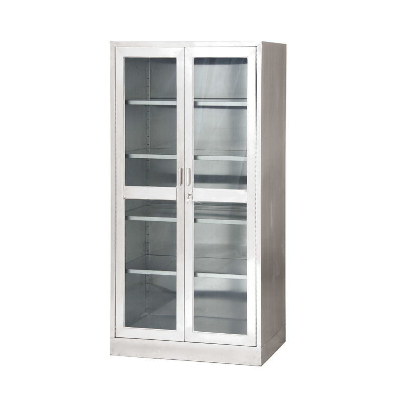 Hospital Funiture Stainless Steel Lockable Medicine Cupboard Medical Instrument Cabinet