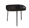 Black frame side table