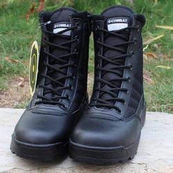 Прочные Военные черные армейские ботинки swat тактические боевые мужские кожаные полицейские армейские военные ботинки