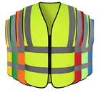 winter hot sale nylon waterproof men's vest and waistcoat, fishing very reflective look safety vest for mens