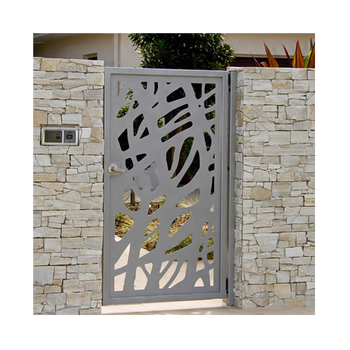 Custom Powder Coating Aluminum Gate Design Garden Aluminium Fence And Gates Outdoor Latest Main Gate