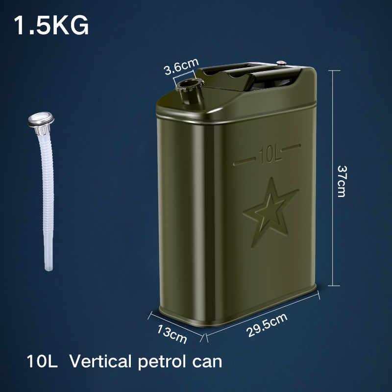 Высококачественный портативный 10л канистра для хранения бензинового топлива контейнер полезный автомобильный бензиновый инструмент