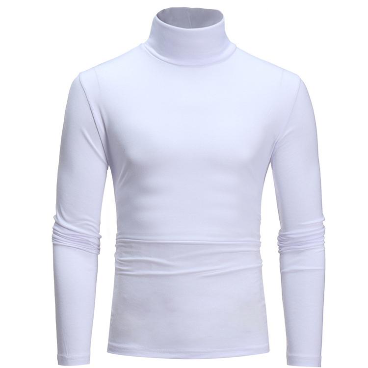 Turtleneck long-sleeved T-shirt men 7-color all-match solid color pullover bottoming shirt