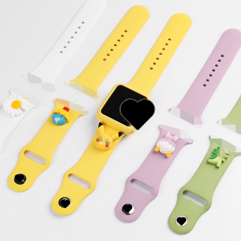 New Design Cute Wristbands Carton Silicone Smart Watch Bands&Accessories for Watch 6/5/4/3/2/1 Watch Bands Strap