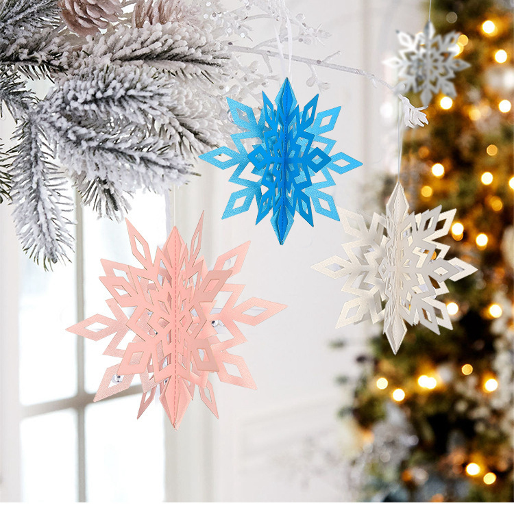 Рождественские товары оптом, рекламные товары, украшения со снежинками и блестками, украшения для рождественской елки, подвесные украшения