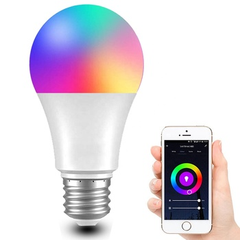 Tuya AC110V 230V Voice Control A60 Smart LED Light Bulb 9W 850LM 2700K-6500K Dimmable Multicolor WiFi Bulb Works with Alexa