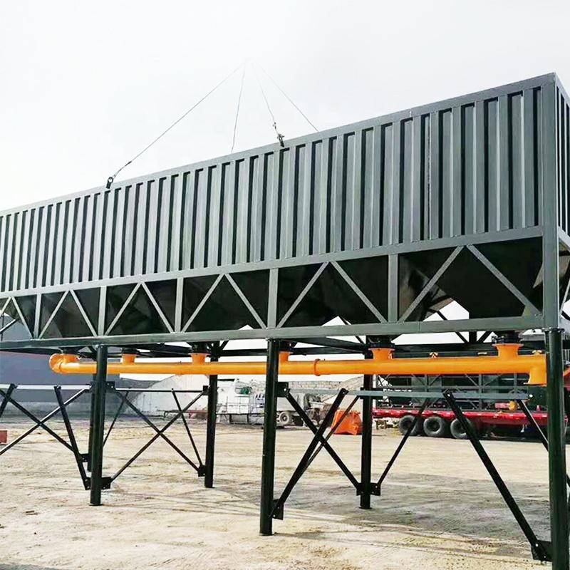 Horizontal Concrete Cement Silo Fly Ash Silo 50T 80T 100T Cement Storage Tank Mobile Cement Silo