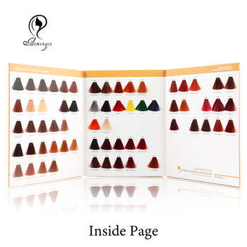 Hair Dye Color Chart design to Display Hair Colors red
