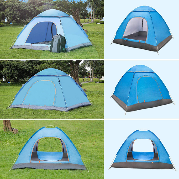 Outdoor Tent 2-3 Persons Full-automatic Double Beach Camping Simple Multi-person Rainproof Camping Tent