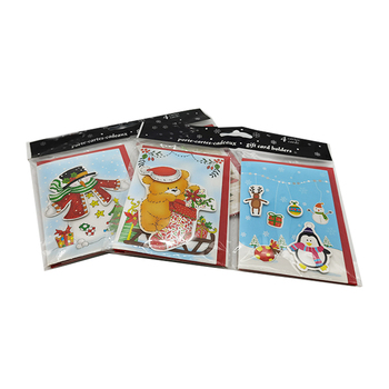Best Selling Holiday Xmas Mini card printing 3d pop up Christmas card