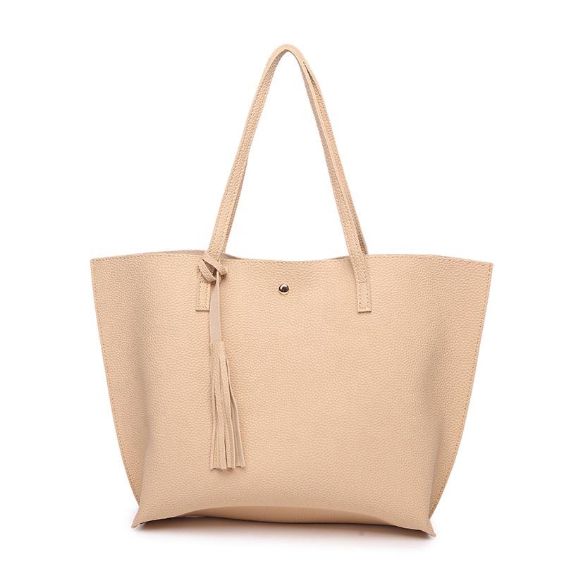 Оптовая продажа, новая простая вместительная сумка-тоут из искусственной кожи, кошельки, сумки для женщин