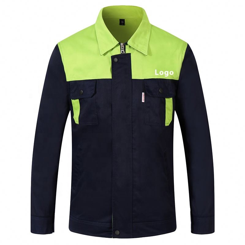 Workwear Suits Men's Long Sleeve Mixed Color Workshop Uniforms Custom Printing Company Unisex Working Clothes Jacket custom