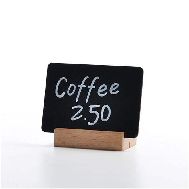 High Quality Tabletop Mini Chalkboard Wood Menu Sign Holder With Wood Base - Yola WhiteBoard | szyola.net